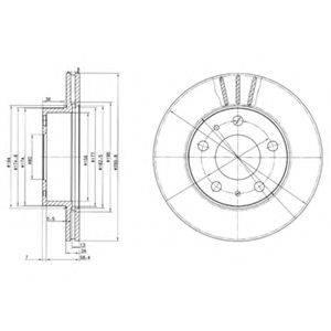 Тормозной диск DELPHI BG2847