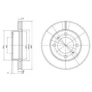 Тормозной диск DELPHI BG2891