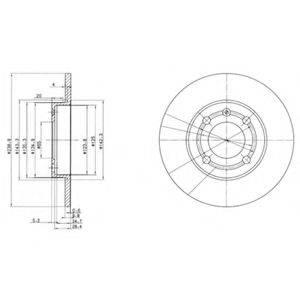 Тормозной диск DELPHI BG2911