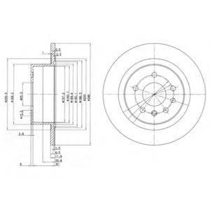 Тормозной диск DELPHI BG2986
