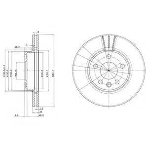 Тормозной диск DELPHI BG3025