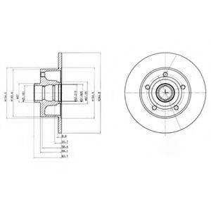 Тормозной диск DELPHI BG3030