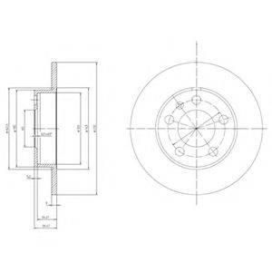 Тормозной диск DELPHI BG3034
