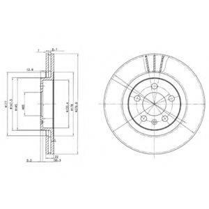 Тормозной диск DELPHI BG3036