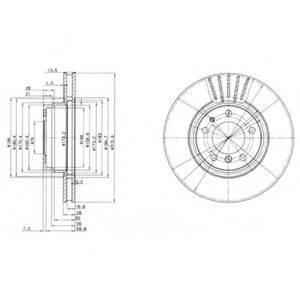 Тормозной диск DELPHI BG3039