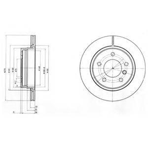 Тормозной диск DELPHI BG3041