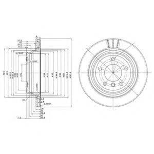 Тормозной диск DELPHI BG3042