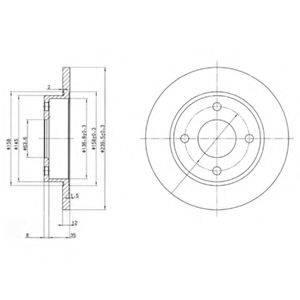Тормозной диск DELPHI BG3055