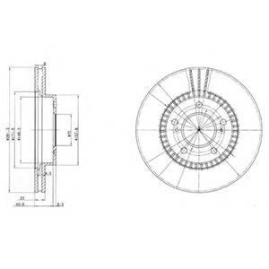 Тормозной диск DELPHI BG3061