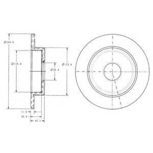 Тормозной диск DELPHI BG3131