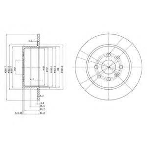 Тормозной диск DELPHI BG3141