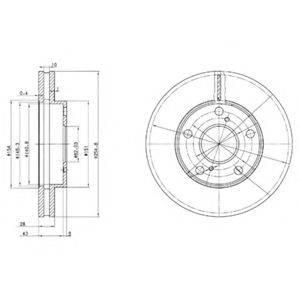 Тормозной диск DELPHI BG3177