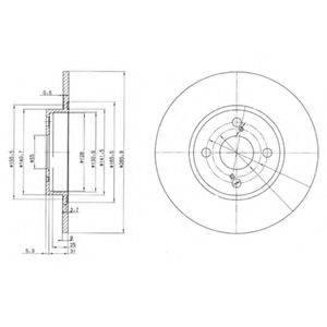 Тормозной диск DELPHI BG3186