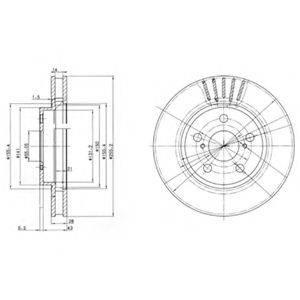 Тормозной диск DELPHI BG3187