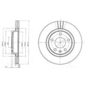 Тормозной диск DELPHI BG3198
