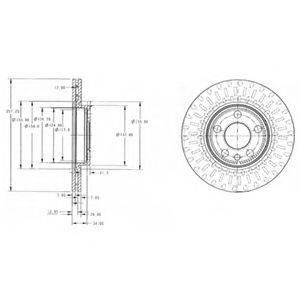 Тормозной диск DELPHI BG3222