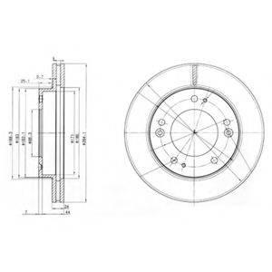 Тормозной диск DELPHI BG3226