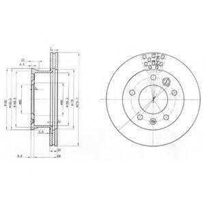 Тормозной диск DELPHI BG3236