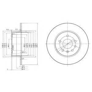 Тормозной диск DELPHI BG3274