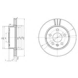 Тормозной диск DELPHI BG3296