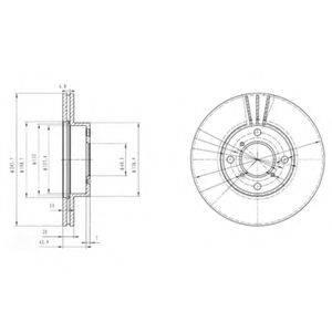 Тормозной диск DELPHI BG3341