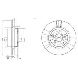 Тормозной диск DELPHI BG3347