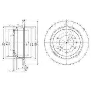 Тормозной диск DELPHI BG3353