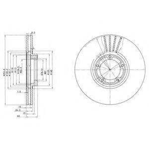 Тормозной диск DELPHI BG3365