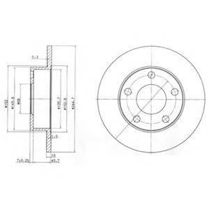 Тормозной диск DELPHI BG3381