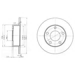 Тормозной диск DELPHI BG3382
