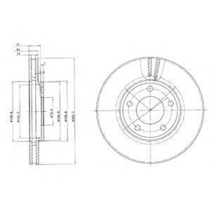 Тормозной диск DELPHI BG3383