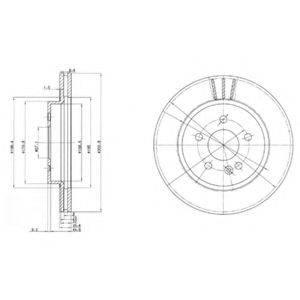Тормозной диск DELPHI BG3397
