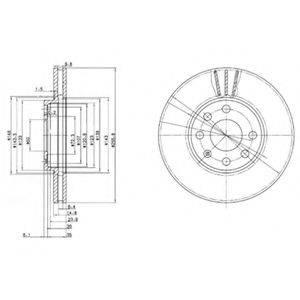 Тормозной диск DELPHI BG3404