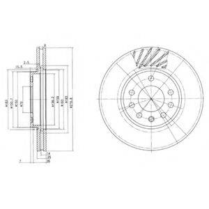 Тормозной диск DELPHI BG3405