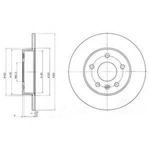 Тормозной диск DELPHI BG3406