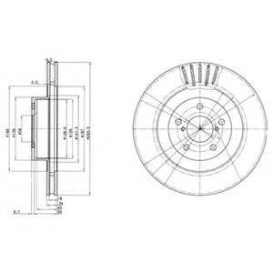 Тормозной диск DELPHI BG3413