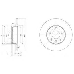 Тормозной диск DELPHI BG3415