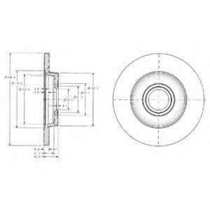 Тормозной диск DELPHI BG3416