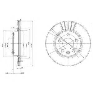 Тормозной диск DELPHI BG3417