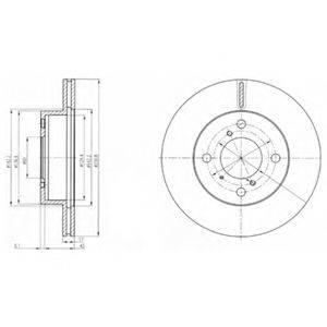 Тормозной диск DELPHI BG3499