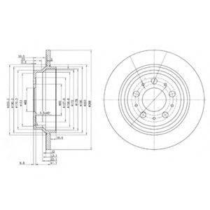 Тормозной диск DELPHI BG3515