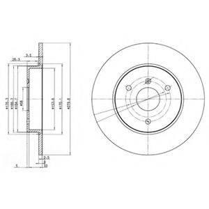 Тормозной диск DELPHI BG3526
