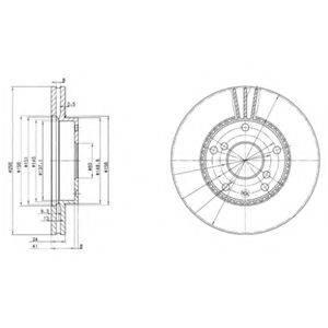 Тормозной диск DELPHI BG3531