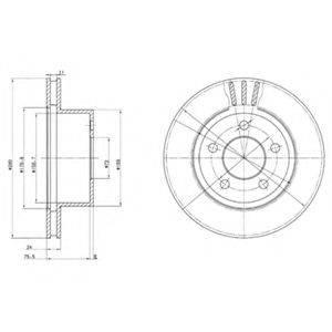 Тормозной диск DELPHI BG3533
