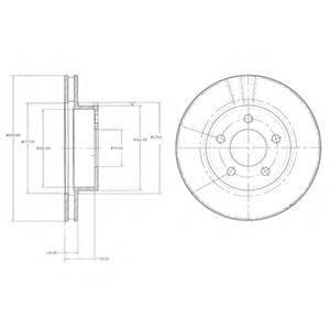 Тормозной диск DELPHI BG3546