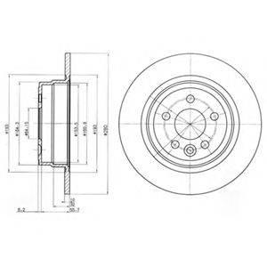 Тормозной диск DELPHI BG3550