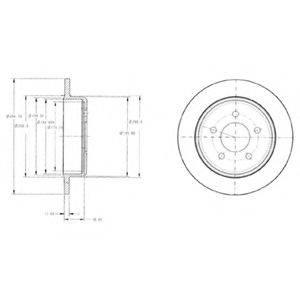 Тормозной диск DELPHI BG3595