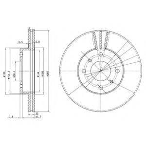 Тормозной диск DELPHI BG3596