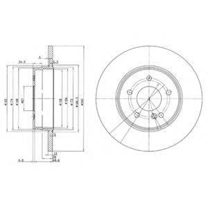 Тормозной диск DELPHI BG3602