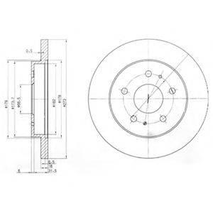 Тормозной диск DELPHI BG3607